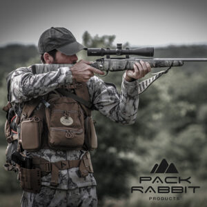 Hunter Aiming Wearing Elite Tactical Chest Vest