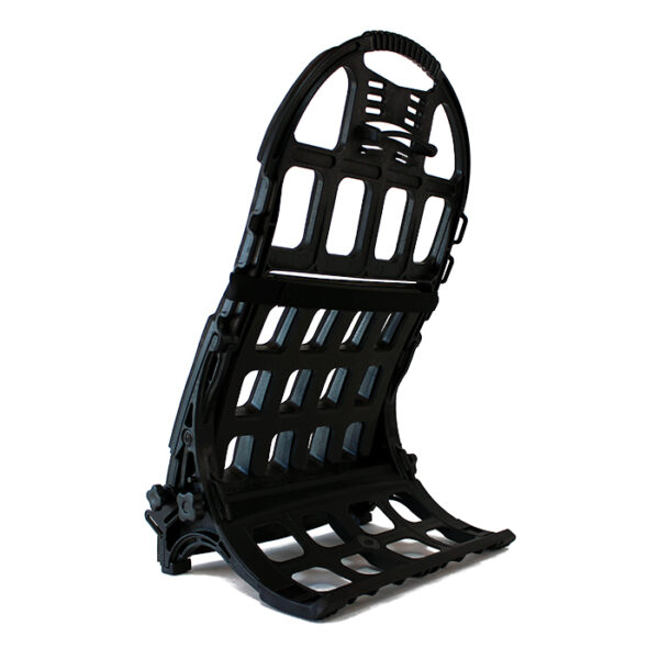 Black exoskeleton frame with white background