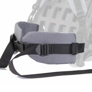 Grey hip belt with white background