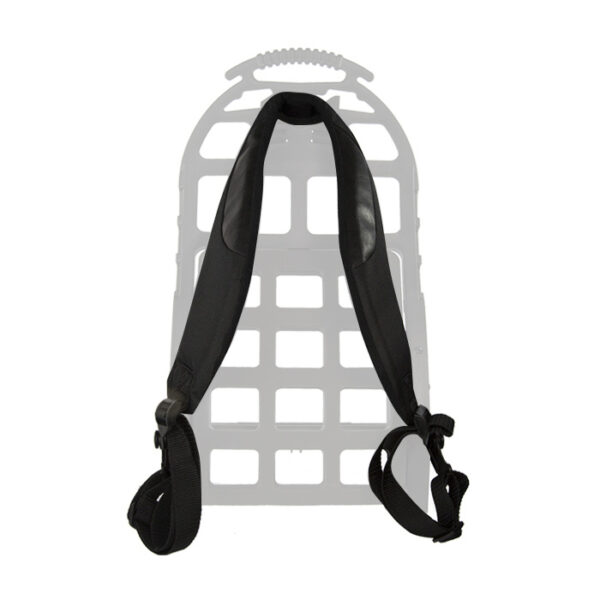 Black shoulder straps with white background