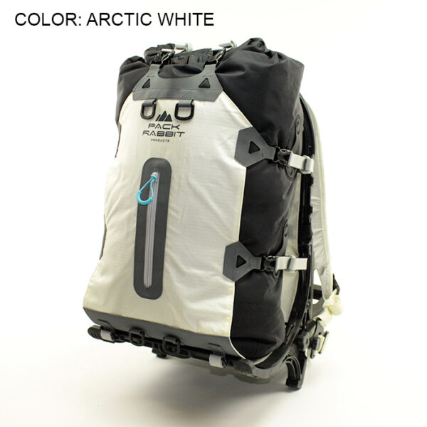 white backpack with white background