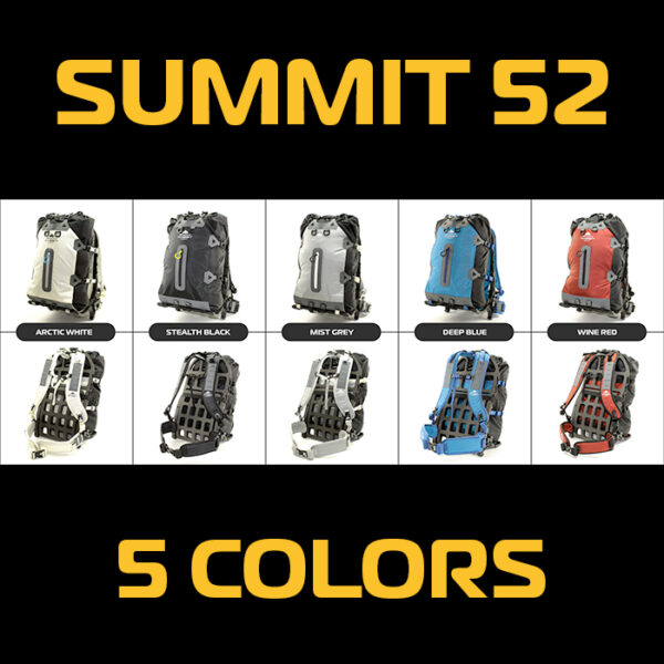 assortment of colored backpacks with white backgrounds