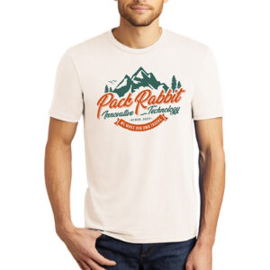 mens shirt that says Pack Rabbit