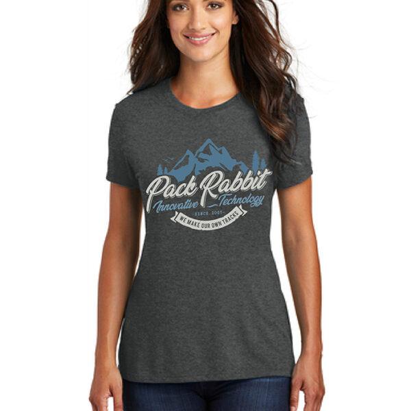 Womens shirt that says pack rabbit