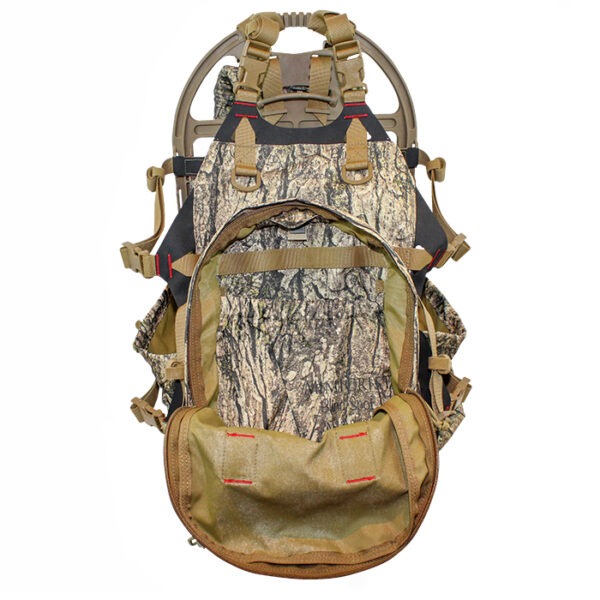 Camouflage backpack with white background