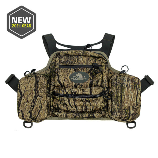 camo chest vest with white background