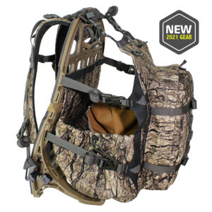 Camo backpack with white background