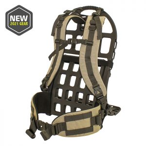 external pack frame and tan harness